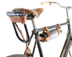 Fondina di biciclette U-Lock - in pelle Tan