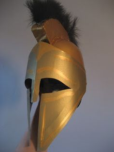 Chuck Does Art: DIY Spartan Hoplite Costume: How to Make a Helmet