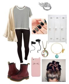 """Fall school"" by bmcbrairty ❤ liked on Polyvore featuring Dr. Martens, Alex and Ani, Chicnova Fashion, Kate Spade, Monster and AS29"