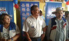Norman Quijano futuro Presidente de El Salvador reunido con nuestros hermanos nacionalistas del municipio de San Francisco Menéndez, Cantón Cara Sucia.