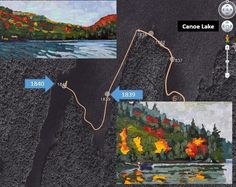 Another couple of paintings from my paddle around Canoe Lake...