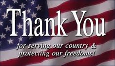 Thank you for serving out country!!