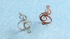 Simple swirls ring