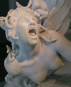 """""""Perseus Beheads Medusa"""". Statue by Laurent Honoré Marqueste, (1875-1903). Glyptotek, Copenhagen."""
