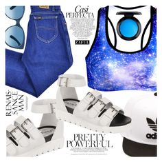 """Not from this Universe"" by vanjazivadinovic ❤ liked on Polyvore featuring Lee, adidas, Whiteley, MAC Cosmetics, polyvoreeditorial and zaful"