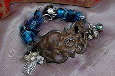Found Object Handmade Boho Bracelet by mocknet on Etsy