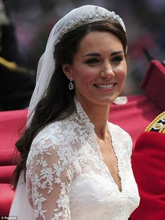 Kate Middleton Wedding Hairstyle...idea for hair with crown and veil