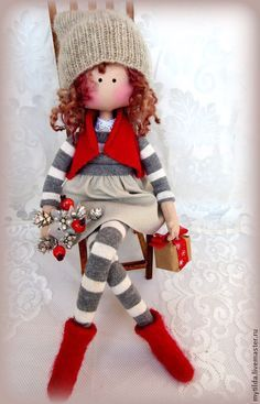 Instructions on how to make a few different nisse Pretty Dolls, Cute Dolls, Beautiful Dolls, Doll Toys, Baby Dolls, Homemade Dolls, Sewing Dolls, Waldorf Dolls, Knitted Dolls