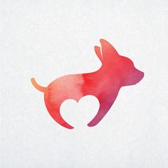 ♦ Hello and welcome to BY. ʕ•ᴥ•ʔ  A lovely logo that features puppy silhouette…
