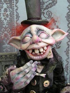Etsy Transaction - OOAK Gail Lackey Ghost Goblin Fairy Elf Halloween Mourning Doll