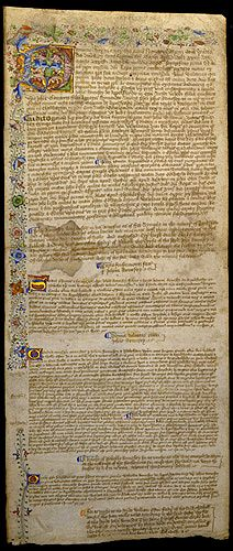 A Court Roll Written in Latin and Middle English 1462
