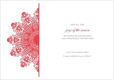 Christmas card from Storkie.com, paper cut design