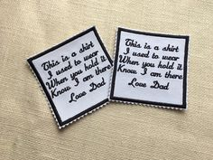 Memory Patches Set of 2  IRON ON Zig Zag Edge Memory Patch 2