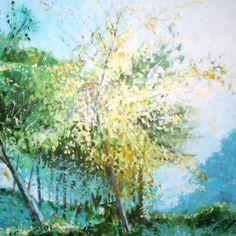 "Daniel Scott; Acrylic 2010 Painting ""Montjuic Morning"""