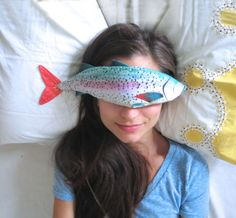 Lavender Fish - Organic Flax and Lavender Eye Pillow - Rainbow Trout by AliaGraceDolls (36.00 USD)
