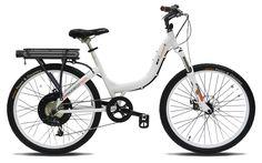 "ProdecoTech Stride 500 W V5 36V500W 8 Speed Electric Bicycle 11Ah Samsung Li-Ion, Pearl White, 18""/One Size"