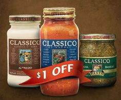 Save $1 on ANY Classico Product *Coupon Expires on May 30* http://free.ca/coupons/save-1-on-any-classico-product/