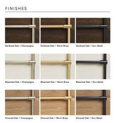 The Brass Kitchen Brass Shelving, Oak Shelves, Glass Shelves, Pine Doors, Modular Office, Brass Kitchen, Brass Wood, Grey Kitchen Designs, Cladding