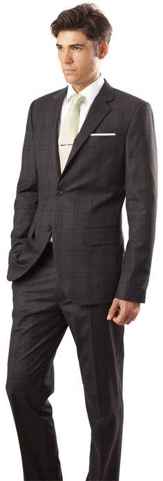 Navy plaid suit by www.blackpier.com