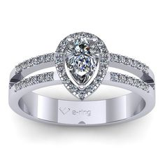 Inel logodna L117ASA cu safir alb si diamante