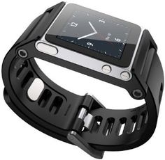 Multi-Touch Watch Band for iPod Nano not included). Premium conversion kit for iPod Nano as the world coolest multi-touch watch. Ipod Nano Watch, Watch Case, Cool Watches, Watches For Men, Men's Watches, Wrist Watches, Latest Watches, Stylish Watches, Casual Watches