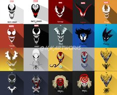 All Symbiotes Vector Arts by IG : - Marvel Venom Comics, Marvel Venom, Marvel Villains, Marvel Films, Marvel Art, Dc Comics, Marvel Characters, Marvel Cinematic, Symbiotes Marvel