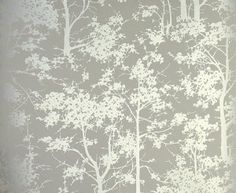Mandara Wallpaper Beige wallpaper with a forest of silver trees - osborne and little Eyebrow Makeup Tips Silver Tree Wallpaper, Silver Wallpaper, Home Wallpaper, Hallway Wallpaper, Rustic Wallpaper, Botanical Wallpaper, Bedroom Wallpaper, Osborne And Little Wallpaper, Contemporary Wallpaper