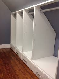 Image result for hanging clothes on sloping ceiling