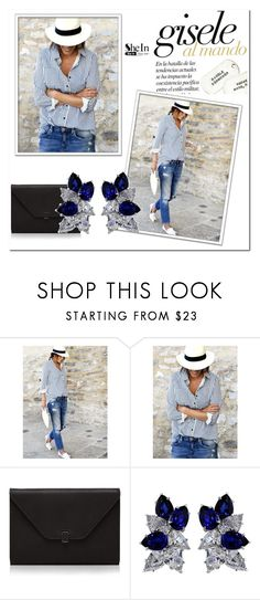 """""""gisele"""" by sezam-1 ❤ liked on Polyvore featuring WithChic, Valextra and Fantasia"""