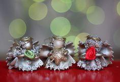 Pasidaryk pats: kalėdinės dekoracijos arba dovanėlės iš makaronų | Šventės idėja Christmas decorations - macaroni (noodles) angels - christmas tree