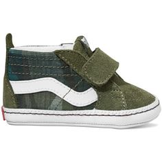 df4e3c679b These Vans Infant Plaid Camo Sk8-Hi Crib will look adorable on your little  one