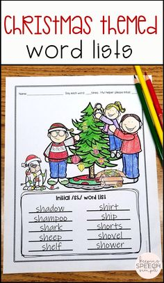 These fun Christmas themed coloring sheets contain speech therapy word lists that target a variety of speech targets in all word positions. /L, R, S/ blends are included. Also included are vocalic /ar, air, er, ire, or/. These NO PREP Christmas activities are a must have for the busy SLP. These coloring pages can be used during mixed therapy groups or they can be sent home for reinforcement. These sheets are ideal for your speech room or therapy bag. Click here to see more of this resource!
