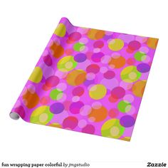 fun wrapping paper colorful