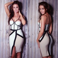 Strappy ColorBlock Bandage Dress  http://www.celebdressy.com/Strappy-ColorBlock-Bandage-Dress