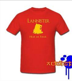 Game of Thrones Lannister Hear Me Roar T-shirt - Blasted Rat