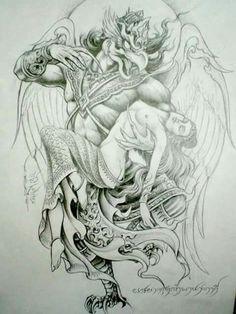 Like Khmer Tattoo, Thai Tattoo, Tattoo Sketches, Art Sketches, Art Drawings, Body Art Tattoos, Sleeve Tattoos, Thailand Tattoo, Full Back Tattoos
