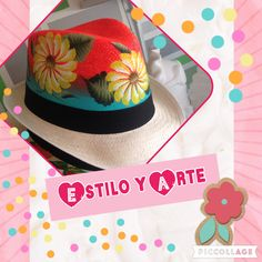 Sombreros pintados a mano Tropical Art, Arts And Crafts, Design Inspiration, Womens Fashion, Outfit, Mardi Gras, Canvas, Painted Birds, Embroidery