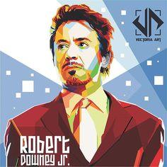 """""""WPAP Robert Downey Jr. ( Tony Stark. #vectorart #wpap #coreldraw #vectoriaart #order #ordernow #tonystark #ironman #coreldrawx6 #wpapindonesia"""""""