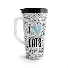 Vasito viajero – I love cats, encuentra este producto en nuestra tienda online. Travel Mug, Mugs, Love, Tableware, Vase, Store, Amor, Dinnerware, Tumblers