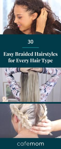 Here are 30 easy and gorgeous braided hairstyles for every hair type! Via: Glamour Magazine, YouTube, nina starck/YouTube, Milabu/YouTube