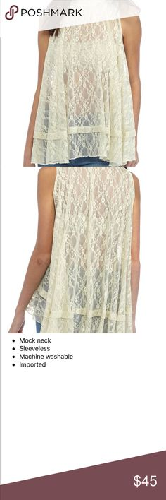 On the way!!  Free People Lace Top Rock your hot body while you still have it.  Stylish and chic and top rated brand very on trend.   NWT.   Romantic.  Pair with any cute bralette for a romantic and sexy look.   Gorgeous pair with jeans, shorts or a mini skirt.   Dance the night away or walk the board walk.  Hot summer nights are on their way Free People Tops Blouses