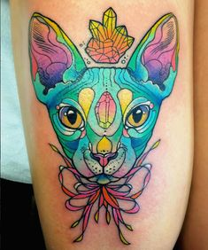Statement-Making, Neon-Colored Tattoos That Look Almost Symmetrical - DesignTAXI.com