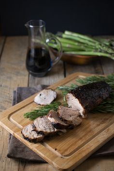 Roasted Pork Tenderloin with Rosemary and Balsamic | Only five simple ingredients, this makes a stunning main dish for holiday meals.