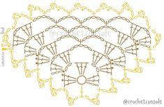 Chal a crochet en punto red Punto Red Crochet, Poncho Crochet, Crochet Triangle Scarf, Crochet Jacket, Crochet Chart, Crochet Blanket Patterns, Crochet Scarves, Crochet Baby, Wedding Shawl