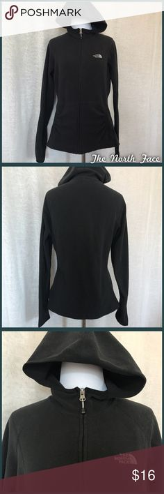North Face Hoodie Black fleece North Face hoodie, size medium, in good pre-loved condition with some very minor pilling. •I'm open to offers and negotiations on all items!• North Face Tops Sweatshirts & Hoodies