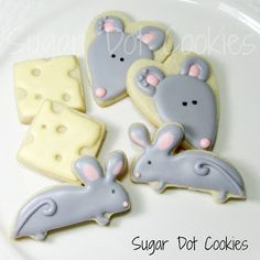 These mice cookies are JUST like Jayden's little JellyCat mouse he brings to bed every night