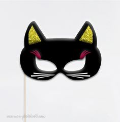Chat Masque Chic Photobooth Accessoire - Mon Photobooth