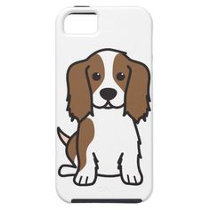 Cavalier King Charles Spaniel Dog Cartoon iPhone SE/5/5s Case #DogCartoon
