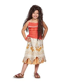 Little Girls Moana Costume and Wig Gift Set * You can find more details by visiting the image link.