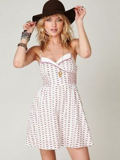 *NEW* Free People Chick Printed Fit N Flare Dress - $82.00